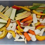 Gemüse geputzt, z.T. geschält und geschnitten